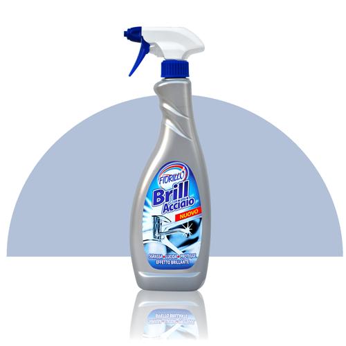 Fiorillo Brill Acciaio liquido in trigger spray da 750ml